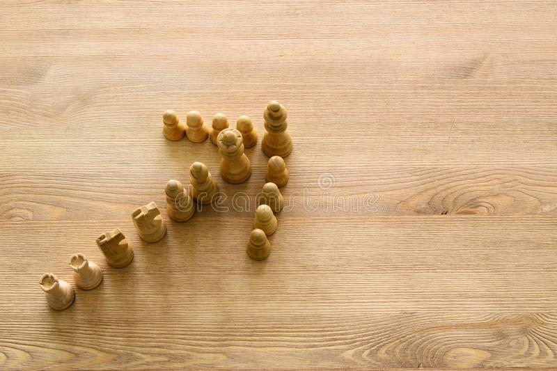 Imagen del ajedrez Negocio, competencia, estrategia, dirección y concepto del éxito fotografía de archivo libre de regalías