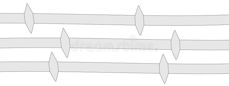 Imagen del alambre de púas libre illustration