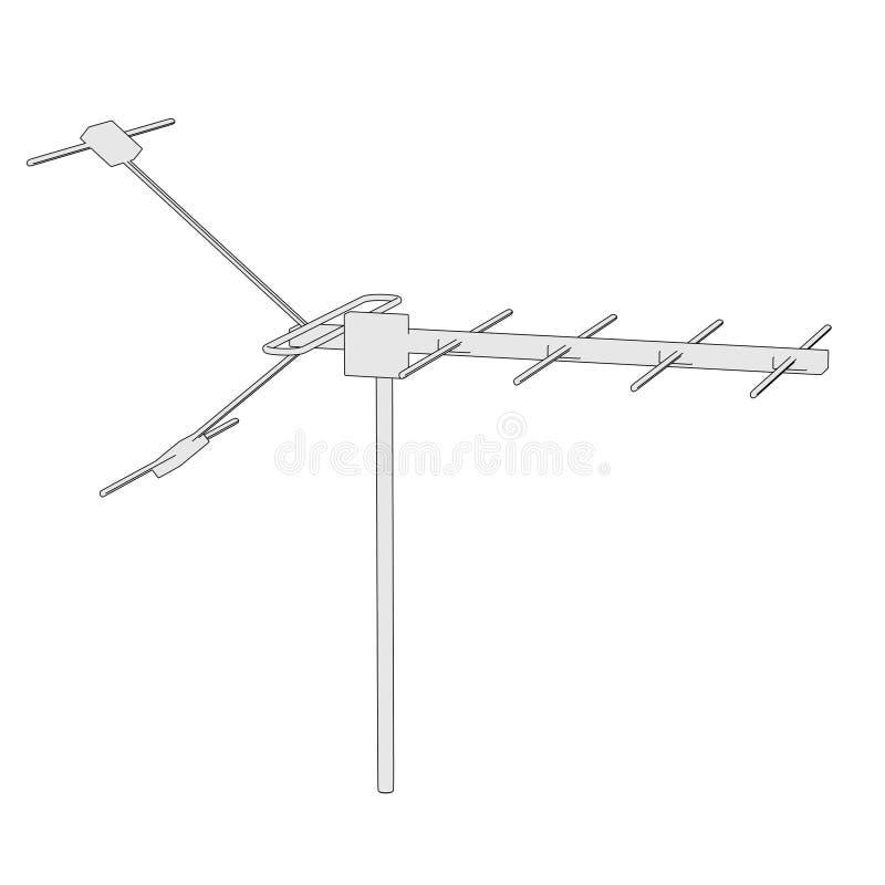 imagen del antenne de la TV ilustración del vector