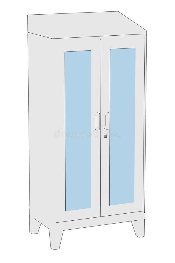 imagen del armario médico stock de ilustración