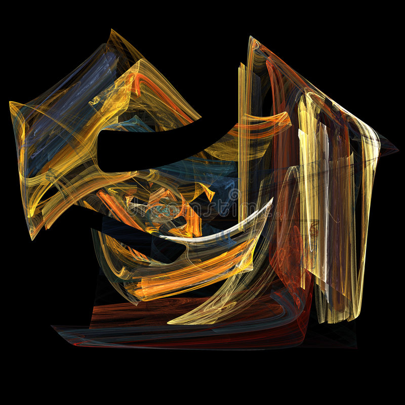 Imagen del arte del fractal de la llama stock de ilustración