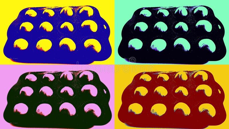 Imagen del arte pop de higos imágenes de archivo libres de regalías