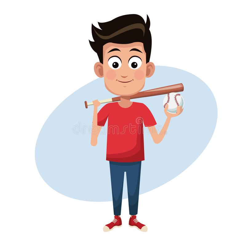 Imagen del béisbol del deporte del muchacho libre illustration