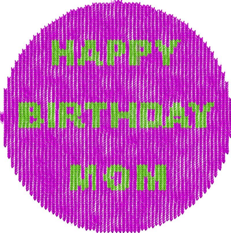 Imagen del círculo para el estilo hecho punto cumpleaños de las mamáes fotografía de archivo