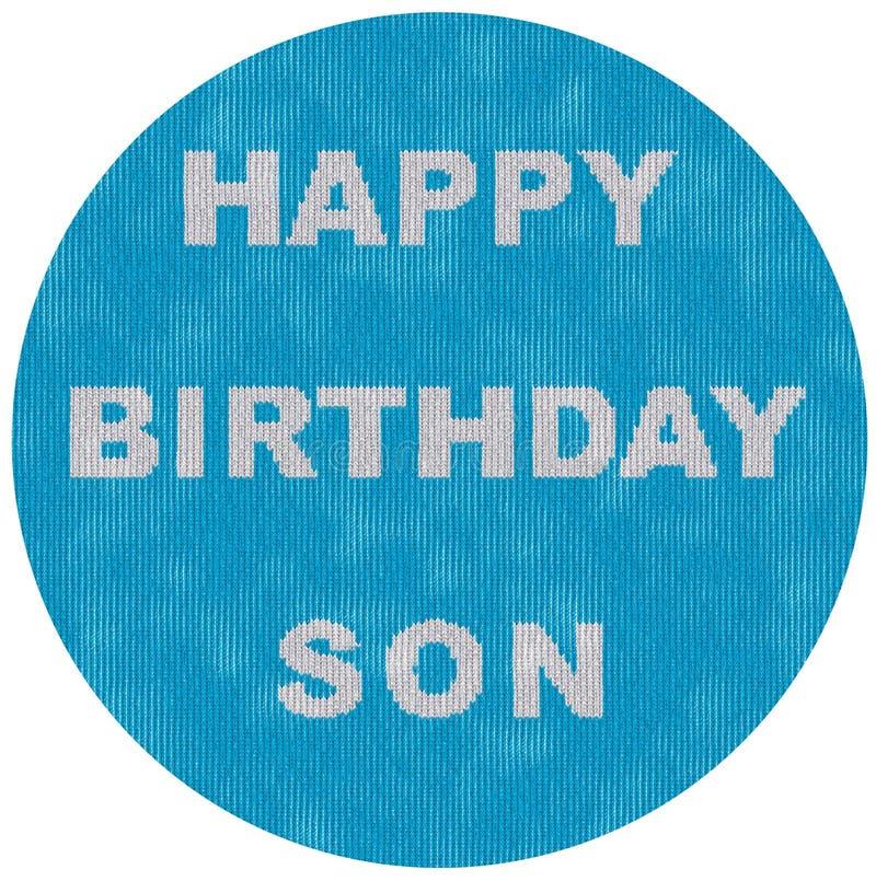 Imagen del círculo para el estilo hecho punto cumpleaños de los hijos fotos de archivo libres de regalías