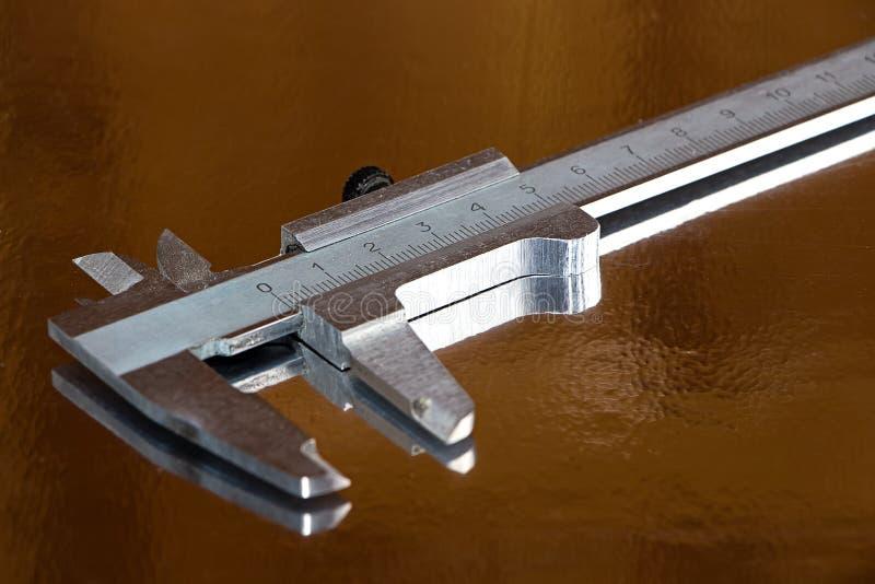 Imagen del calibrador metálico foto de archivo libre de regalías