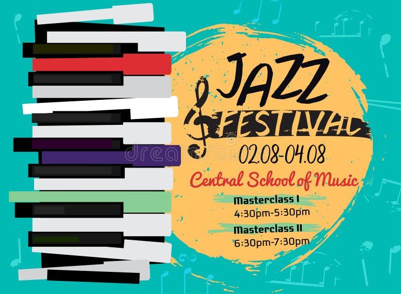 Imagen del cartel del jazz stock de ilustración