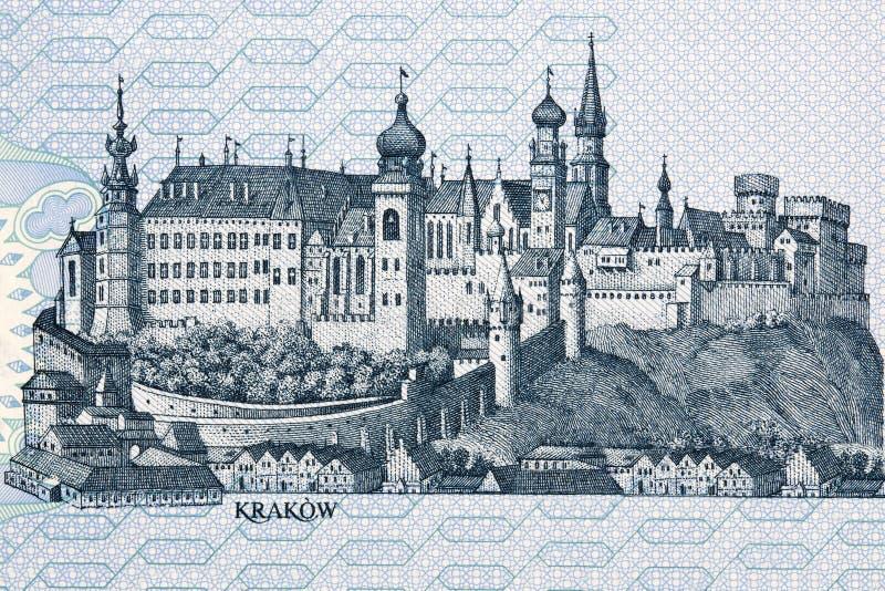 Imagen del castillo de Wawel en Cracovia foto de archivo libre de regalías