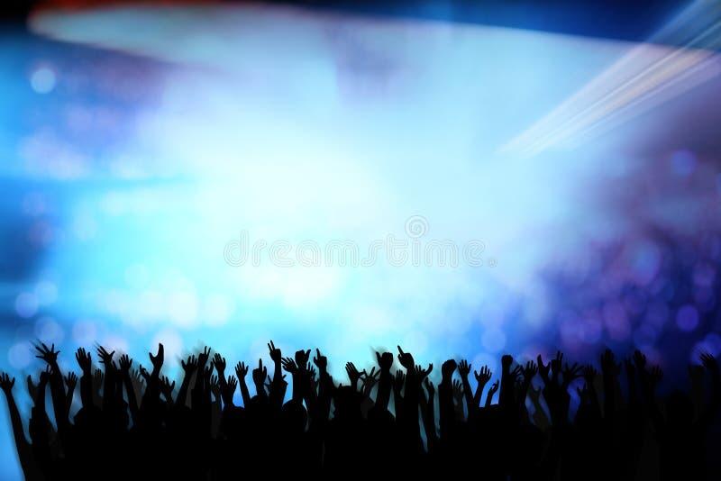 Imagen del club nocturno stock de ilustración