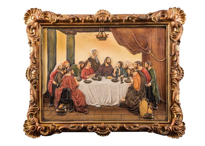 Imagen del color de la última cena fotografía de archivo