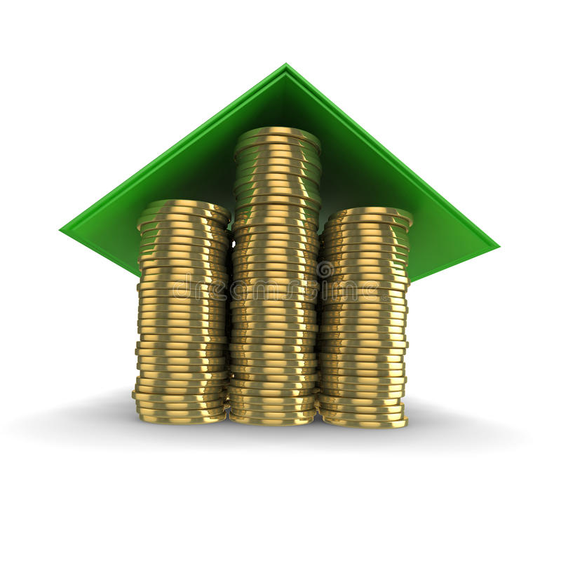 Imagen del concepto de la hipoteca ilustración del vector