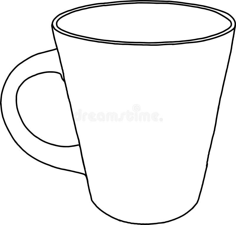 Imagen del contorno de una taza stock de ilustración