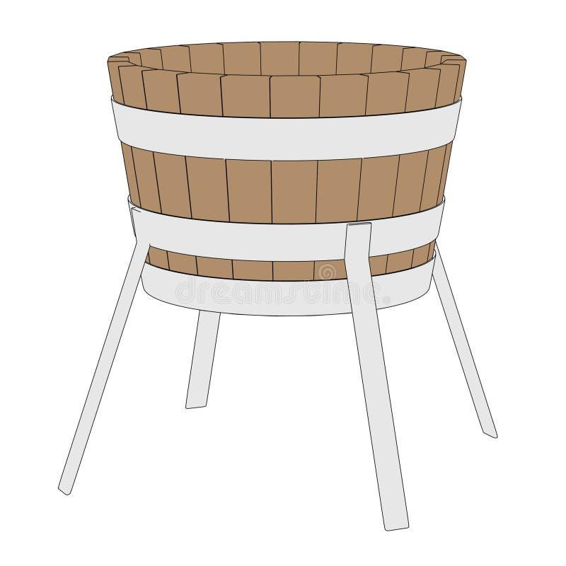 Imagen del cubo del herrero stock de ilustración