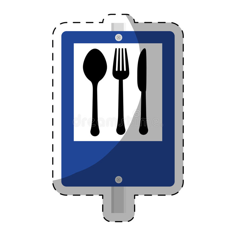 imagen del emblema del restaurante stock de ilustración