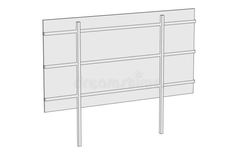 Imagen del escritorio de la cartelera stock de ilustración