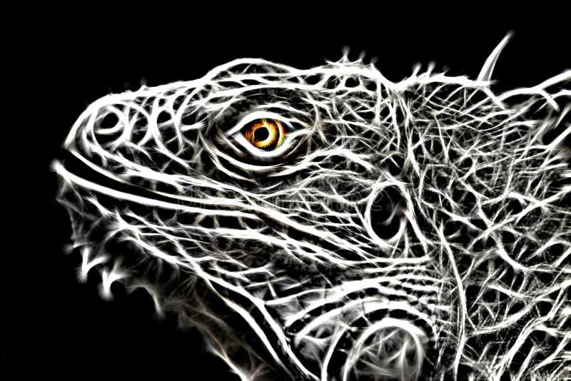 Imagen del fractal de un lagarto de la iguana imagenes de archivo