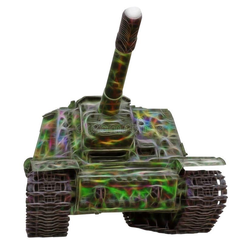 Imagen del fractal del tanque viejo fotos de archivo