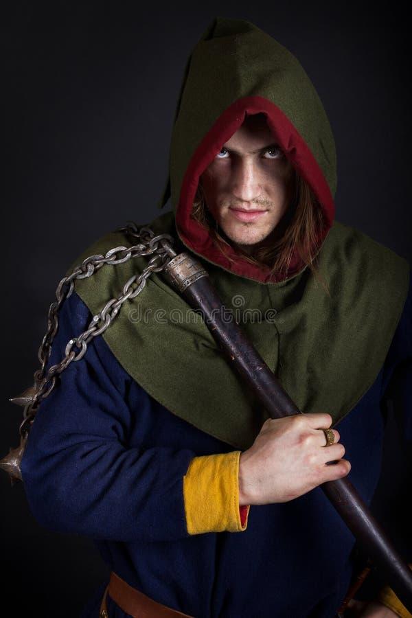 Imagen del guerrero malvado imagen de archivo