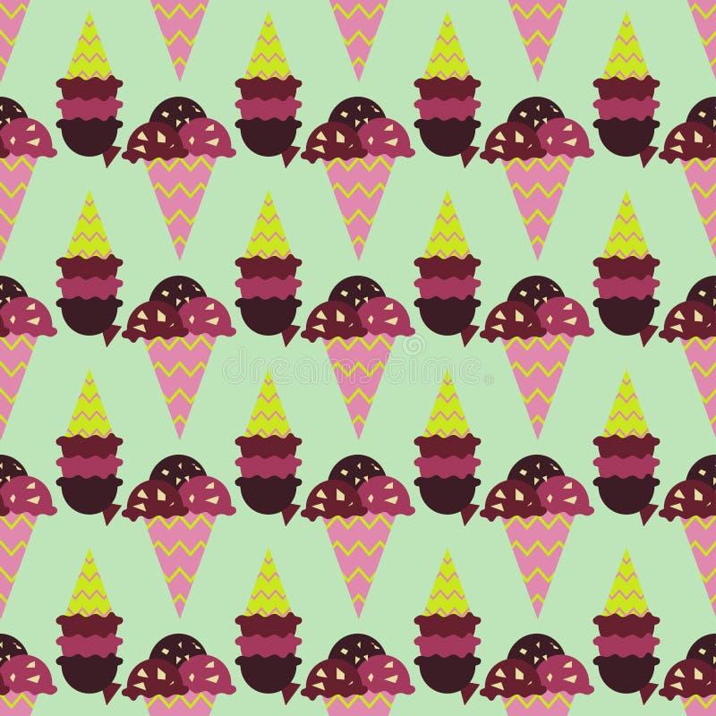 Imagen del helado Background stock de ilustración