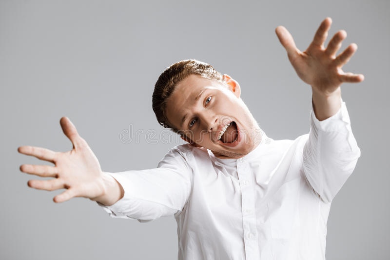 Imagen del hombre caucásico divertido fotografía de archivo libre de regalías