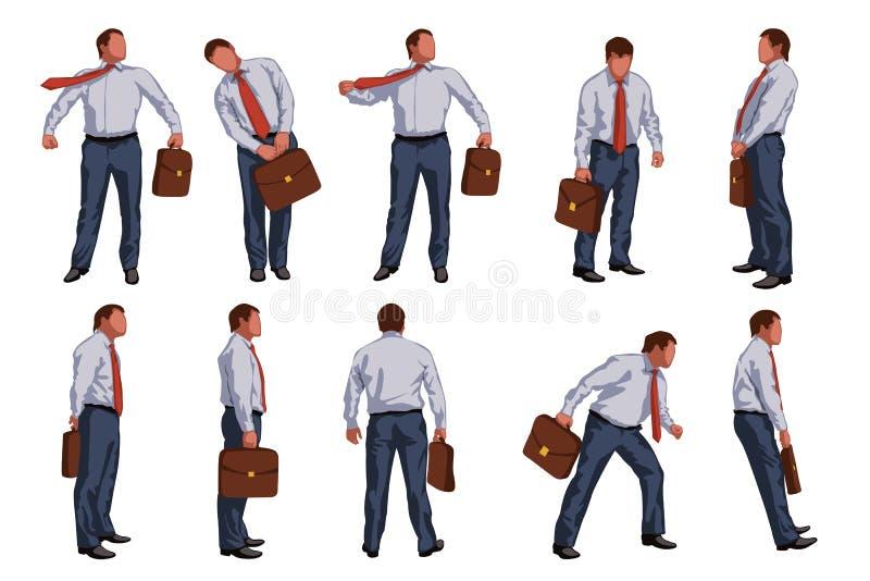 Imagen del hombre de negocios stock de ilustración