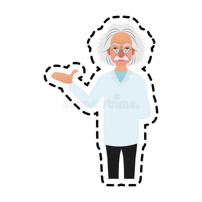 imagen del icono de Albert Einstein ilustración del vector