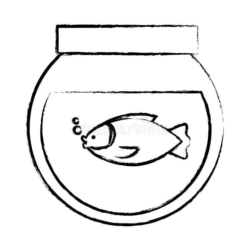 Imagen del icono de Fishbowl ilustración del vector