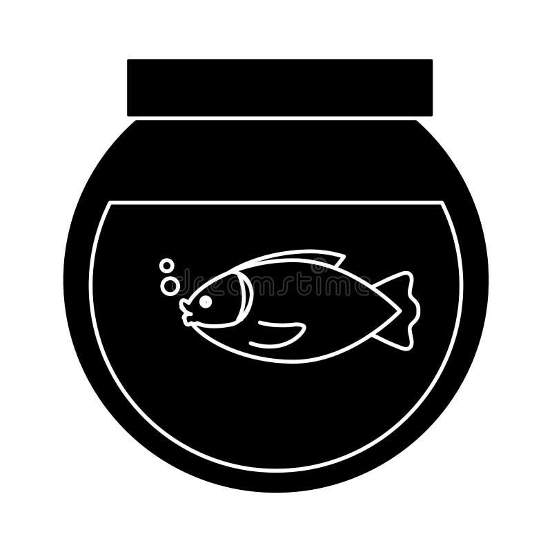 Imagen del icono de Fishbowl stock de ilustración