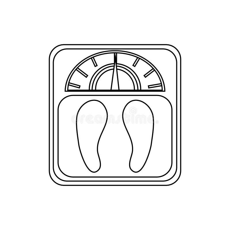 Imagen del icono de la escala del peso libre illustration
