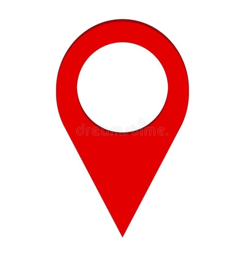 Imagen del icono de la localización de la navegación del mapa del Pin, illustr común del vector ilustración del vector
