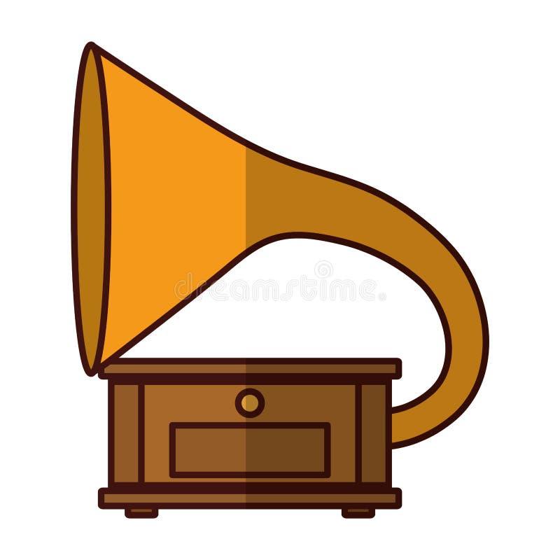 Imagen del icono de la música del gramófono libre illustration