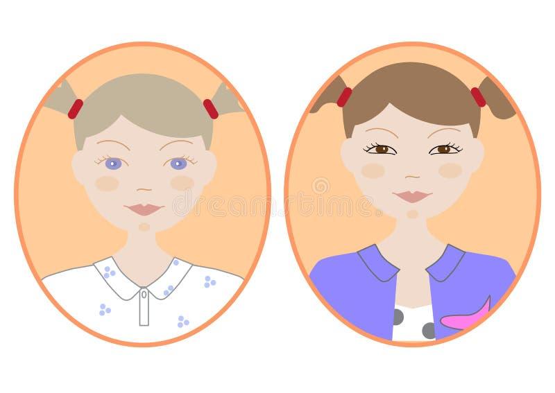 Imagen del icono de la muchacha foto de archivo