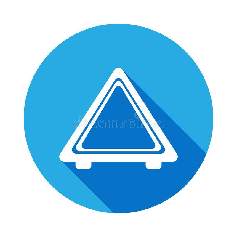 imagen del icono de la parada de emergencia del automóvil con la sombra larga Elemento del ejemplo de los servicios de reparación libre illustration
