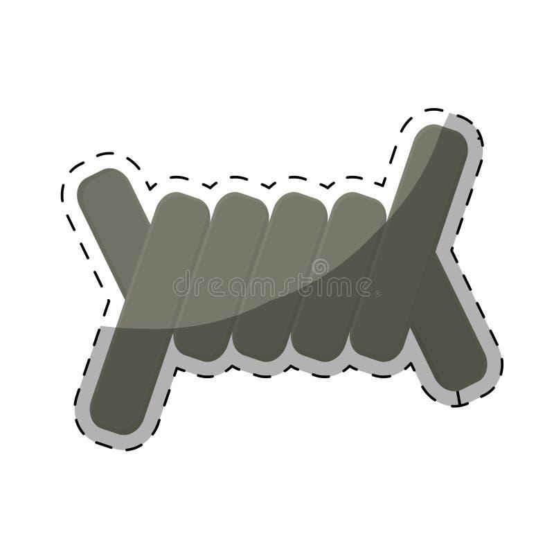 imagen del icono de la sección del alambre de púas libre illustration