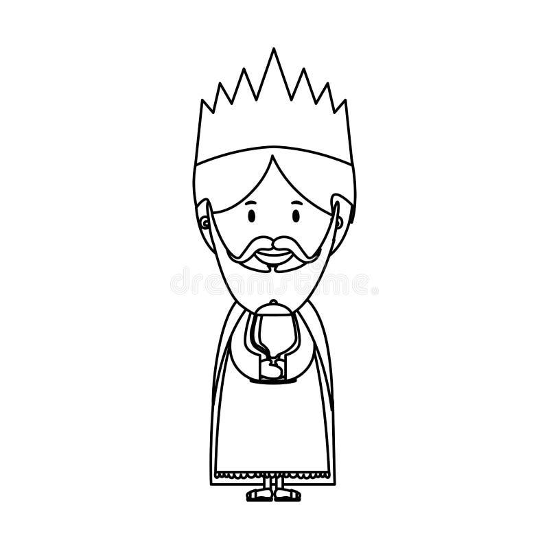 Imagen del icono de unos de los reyes magos ilustración del vector