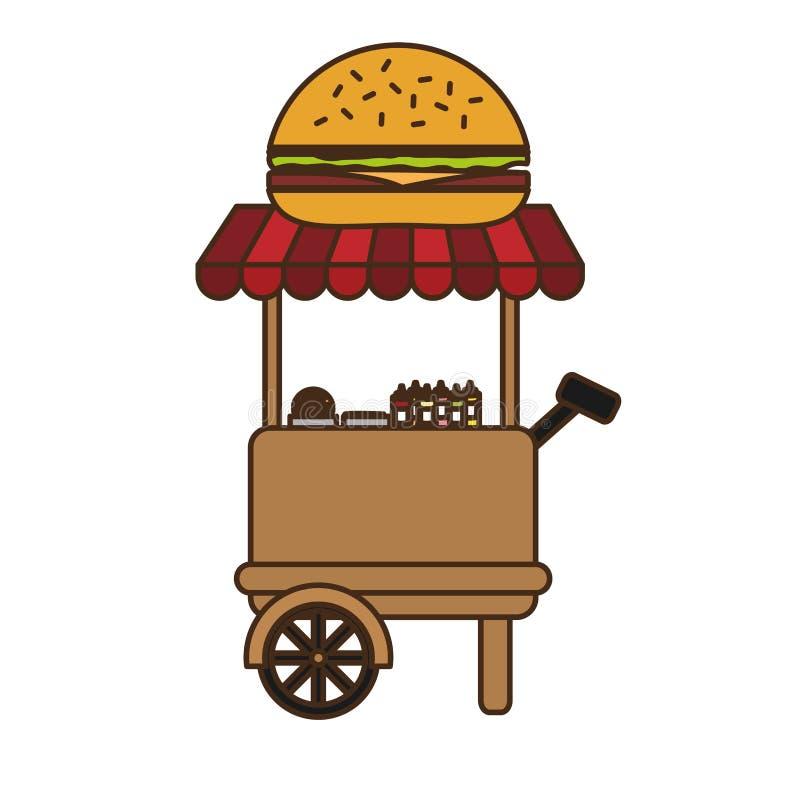 imagen del icono del camión de la comida ilustración del vector