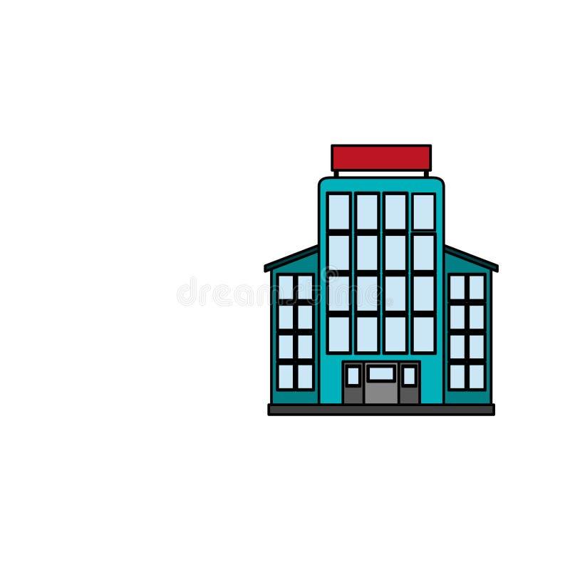 Imagen del icono del edificio del hotel libre illustration