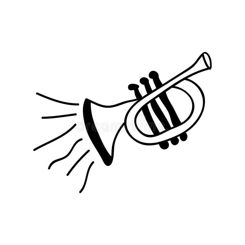 Imagen del icono del instrumento de la trompeta ilustración del vector