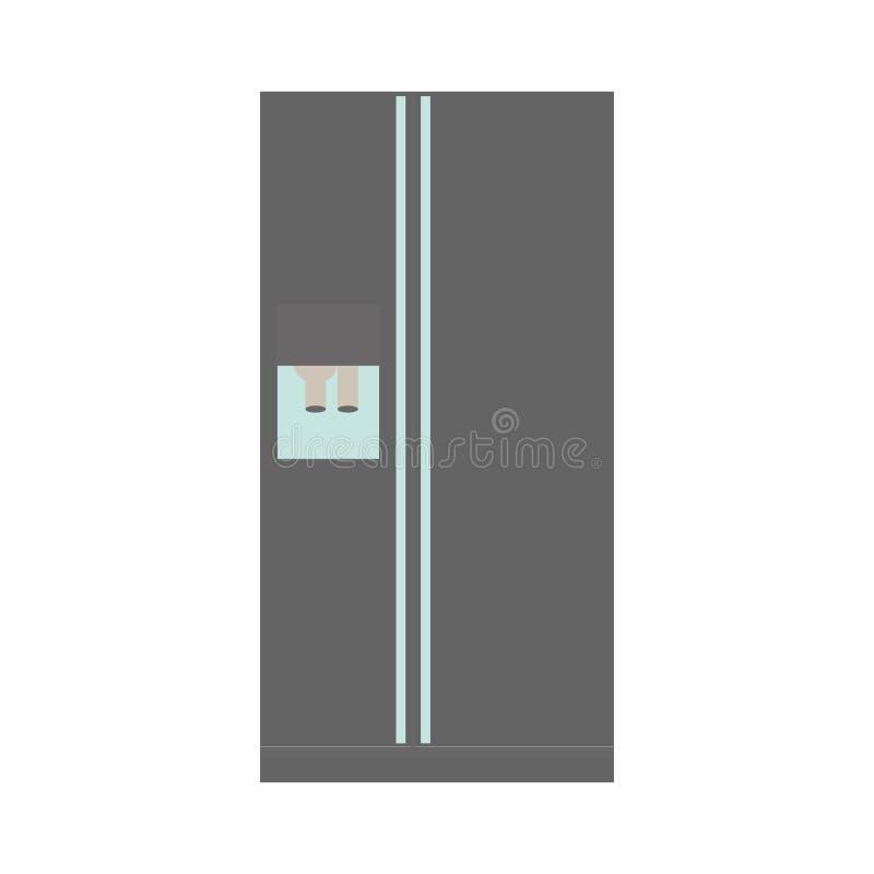 Imagen del icono del refrigerador o del refrigerador ilustración del vector