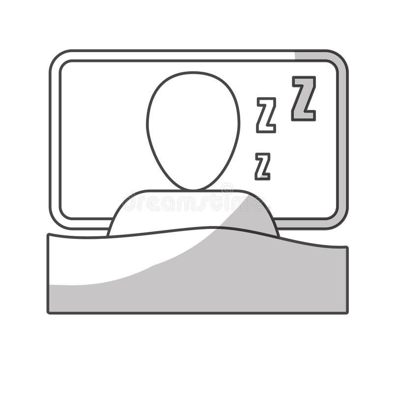 Imagen del icono el dormir de la persona libre illustration