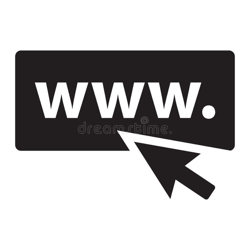 Imagen del icono del sitio web stock de ilustración