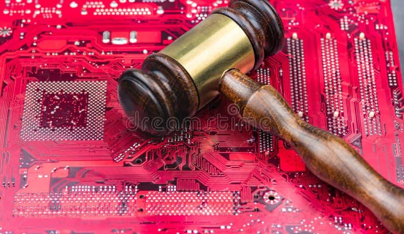 Imagen del juez de la ley del concepto para Internet fotos de archivo
