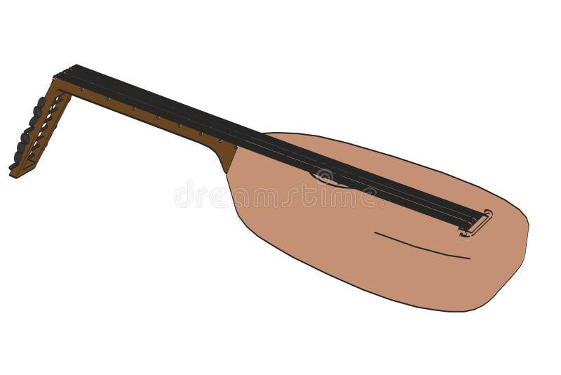 Imagen del laúd medieval stock de ilustración
