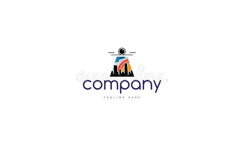 Imagen del logotipo del vector del abejón de la ciudad ilustración del vector