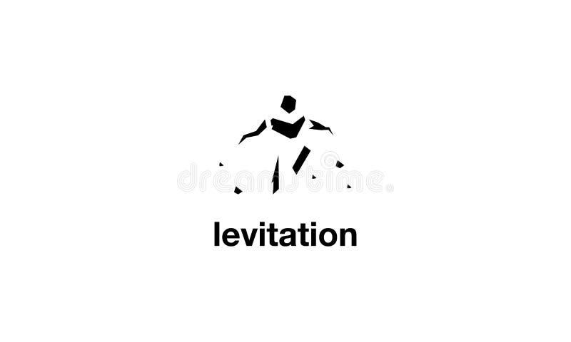 Imagen del logotipo del vector de la levitación ilustración del vector