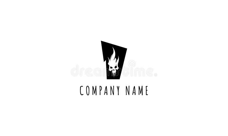 Imagen del logotipo del vector del Scull libre illustration