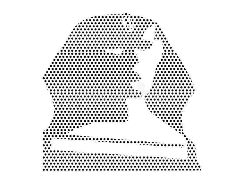 Imagen del modelo punteado de la esfinge de Egipto stock de ilustración
