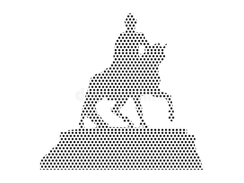 Imagen del modelo punteado de la estatua de un rey libre illustration