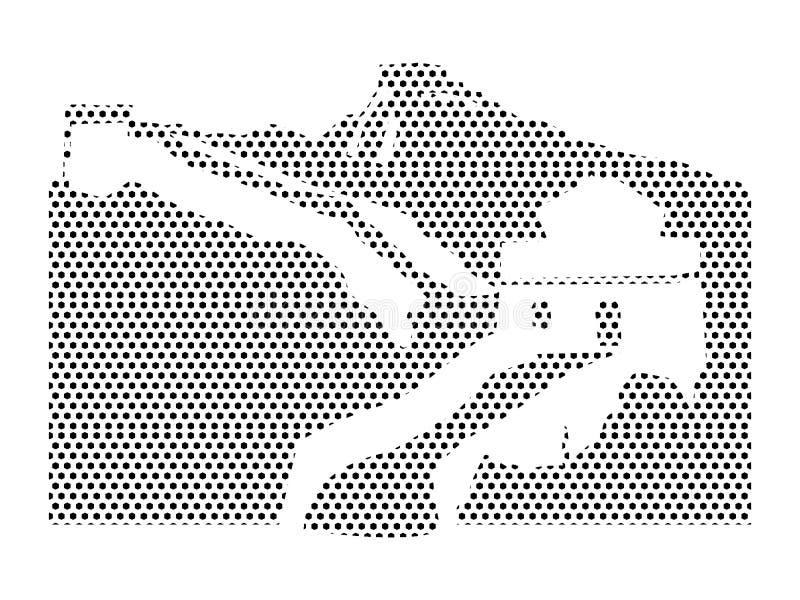 Imagen del modelo punteado de la Gran Muralla de China ilustración del vector