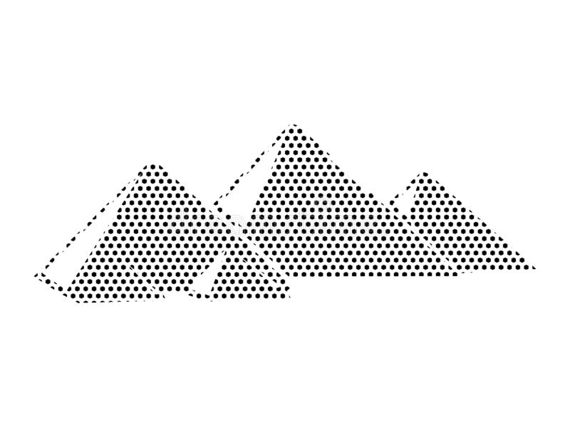 Imagen del modelo punteado de las pirámides de Egipto ilustración del vector